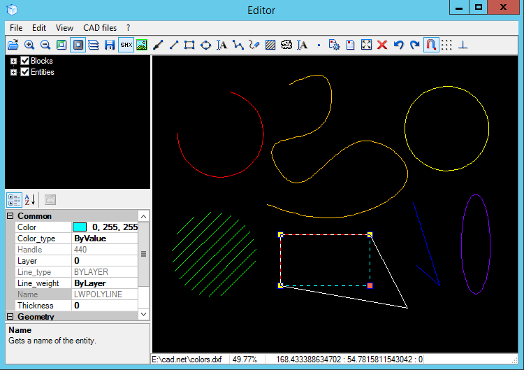 Drawing Lines With Vb Net : Cad import edit and export dwg dxf plt cgm etc